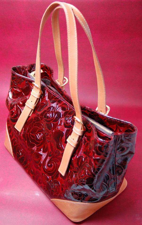 漆塗り革バッグ-2